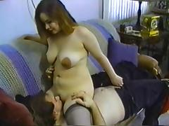 Big Brown Nippled Amateur All Tarted Up For A Fuck