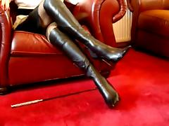 British, Adorable, Amateur, Boots, British, Leather