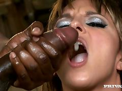 Passionate Lexi Love gets fucked rough in interracial video tube porn video