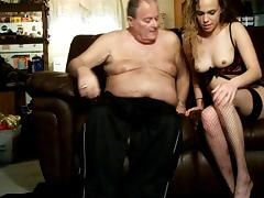 Paige fucks me on the sofa again