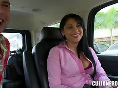 Bus, Bus, Couple, Latina, Outdoor, Penis