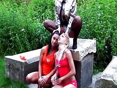 Piss fetish lesbian skank outdoor sex