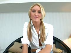 Alluring Blonde Babe Showed Her Deep Throat To Her Gifted Lover