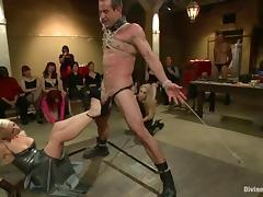 Public femdom BDSM with some smoking hot mistresses