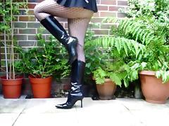 My wifes Wicked Cruel Spike heeled Kneehigh Boots