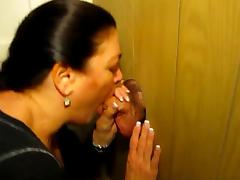 Gloryhole tease blowjob