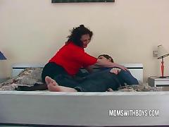 Big dirty milf Lures a Young lad Into Bed tube porn video