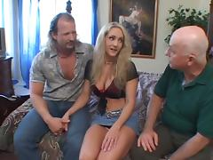 Busty Blonde With Big Fake Tits And Two Bros In Threesome Sex Act tube porn video