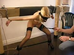 Horny Jezzabelle gets her pussy clothespinned