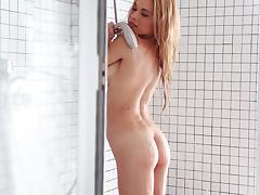 Petite and smoking hot blondie Charlotte Rose is loving some passion