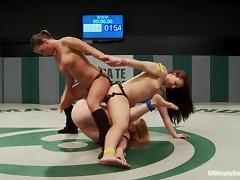 Catfight, Babe, Big Tits, Catfight, Hardcore, Lesbian