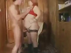 Redhead BBW Granny Fucked tube porn video