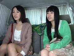 Car, Asian, Blowjob, Car, Fingering, Handjob