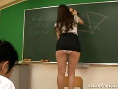 Teacher, Asian, Blowjob, College, Couple, Cowgirl