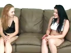 Candy, Lesbian, Punishment, Sofa, Spanking, Candy
