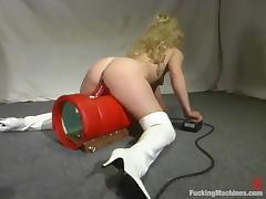 Machine, Blonde, Machine, Masturbation, Toys