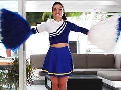Stunning Gigi Marie poses in cheerleader uniform