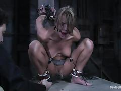 Sexy Holly Wellin gets her ass and pussy stuffed in BDSM vid
