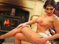 Busty angel is performing in a hot solo scene