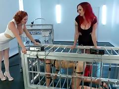 Two redhead mistresses punish and humiliate a girl porn tube video