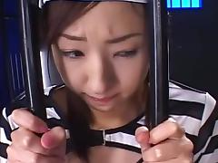 Asian beauty is licking tasty round balls