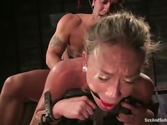 Derrick waxes Kylie, pounding her divine pussy