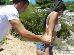 Some hot and exotic poses outdoors with Sasha Jones tube porn video