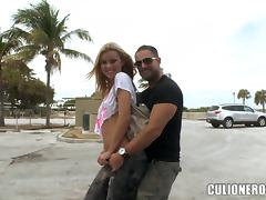 Jessie Rogers sucks a cock and takes a great ride on it