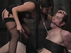 Nomad gets wired and toyed in the ass by Sativa Rose