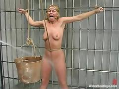 Trina gets tortured in a prison ward by a guy in military uniform tube porn video