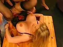 Slut swallows big cum loads on the cam
