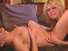 Spicy blondes are sucking natural tits