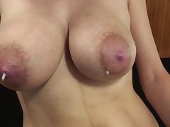 Lactation, auto drip tube porn video