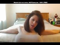 Hot Brunette Big Tits Teasing