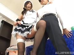 Hot Japanese Maid Hibiki Fucking Doggystyle In The Mans House