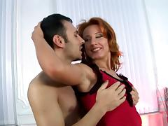 Redhead Slut With Hot Ass Enjoys In Double Penetration