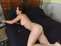 Amazing Paige Richards gets bounded and toyed in her ass