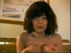 Asian milf is being balled in her mouth and cummed