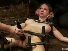 Stunning Rain DeGrey gets toyed in hot BDSM video