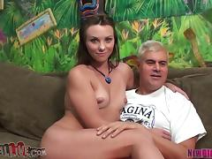 Sexy Alysa With Small Tits Looks Perfect On That Stiff Cock