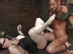 Claire Adams enjoys playing with Nomad's ass in amazing BDSM scene