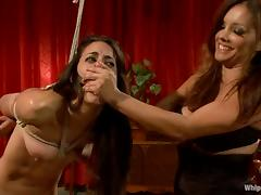 Brooklyn Lee and Lyla Storm get punished by their mistress tube porn video