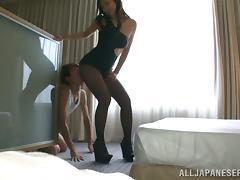 Sexy Bombshell Reiko Kobayaka Sucking And Fucking A Lucky Asian Guy tube porn video