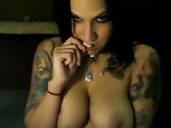 American, American, Brunette, Dildo, Masturbation, Orgasm