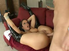 Brunette with big tits carmella bing gets anal