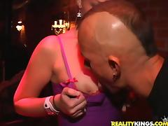 Gorgeous chicks get fucked in group sex action after clubbing