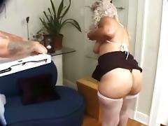 Wild Granny With Huge Tits Sucks That Stiff Long Cock