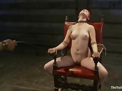 Sloane Soleil gets her ass spanked and pussy toyed