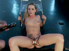 Sexy Bailey Blue gets whipped and toyed with electro dildo tube porn video