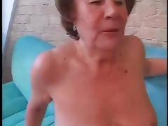 Slut Granny Martha Fucked In Both Holes